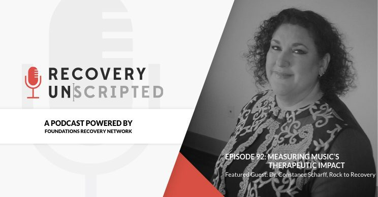 Recovery Unscripted Banner: Episode 92: Constance Scharff, Rock to Recovery